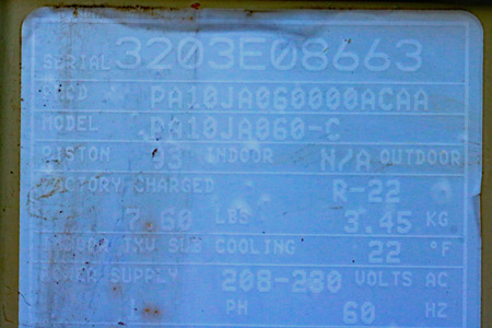 Air Conditioner Date Codes